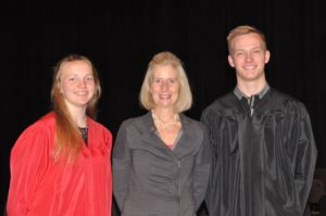 In May 2018, Kristin Wallace, the vice-chairman of the Community Foundation, presented two $22,000 Walter and Louise Buell Merit Scholarships to Fort Atkinson High School graduating seniors Morgan Garlock (left) and Mark Riggs (right).